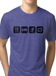 Eat Sleep Ski Repeat Tri-blend T-Shirt