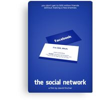The Social Network film poster Canvas Print