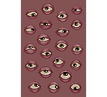 Fleshy Eyeballs Photographic Print