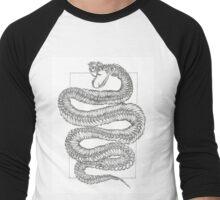 Stippling Snake Men's Baseball ¾ T-Shirt