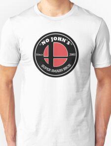 No Johns Smash Bros Jimmy John`s Logo Style T-Shirt