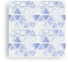 simple watercolor triangel pattern Canvas Print