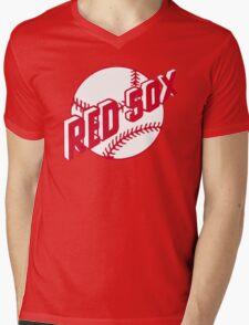 Boston Red Sox Old Logo Mens V-Neck T-Shirt