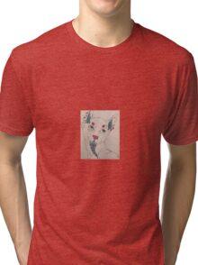 Abstract Cartoon Wolf - Tri-blend T-Shirt
