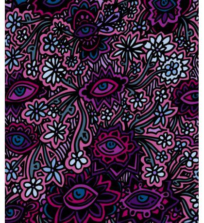 Pink, Purple, Blue Floral Print Sticker
