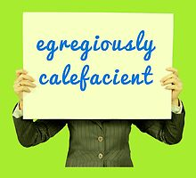 Egregiously Calefacient Sign Board by aughtie