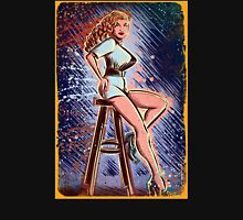 Tempest Storm art print burlesque pin up female red head stripper 50's 40's high heels sexy joe badon strip tease boobs something weird Unisex T-Shirt