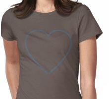 XOX Heart Frame Blue Womens Fitted T-Shirt