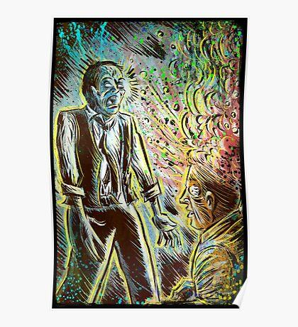 Scanners art print david cronenberg horror sci fi science fiction 1981 80's film movie michael ironside body horror cult classic joe badon Poster