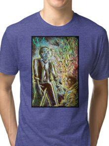 Scanners art print david cronenberg horror sci fi science fiction 1981 80's film movie michael ironside body horror cult classic joe badon Tri-blend T-Shirt