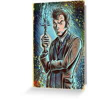 Dr Who David Tennant Art Print the doctor who bbc sci fi tenth doctor 10th time lord travel machine tardis space sonic screwdriver face bo Greeting Card