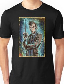 Dr Who David Tennant Art Print the doctor who bbc sci fi tenth doctor 10th time lord travel machine tardis space sonic screwdriver face bo Unisex T-Shirt