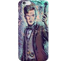 Dr Who Matt Smith Art Print the 11th doctor who BBC British Television Show Series bow tie sonic screwdriver fez joe badon science fiction iPhone Case/Skin