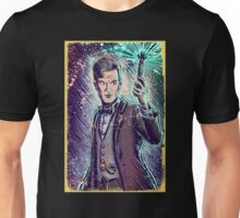 Dr Who Matt Smith Art Print the 11th doctor who BBC British Television Show Series bow tie sonic screwdriver fez joe badon science fiction Unisex T-Shirt