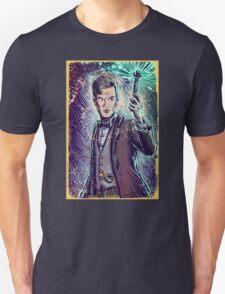 Dr Who Matt Smith Art Print the 11th doctor who BBC British Television Show Series bow tie sonic screwdriver fez joe badon science fiction Unisex T-Shirt