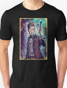 Dr Who Matt Smith Art Print the 11th doctor who BBC British Television Show Series bow tie sonic screwdriver fez joe badon science fiction T-Shirt
