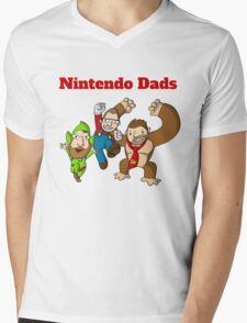 Nintendo Dads Mens V-Neck T-Shirt
