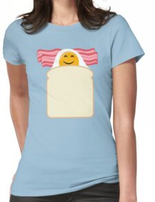 Good Morning Breakfast Cute Bacon and Egg T Shirt Womens Fitted T-Shirt