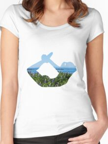 Yoga - Bow Pose  Women's Fitted Scoop T-Shirt
