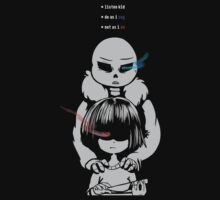 Sans and Frisk by chechur