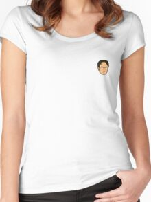 Dwight Schrute Mini Head Women's Fitted Scoop T-Shirt