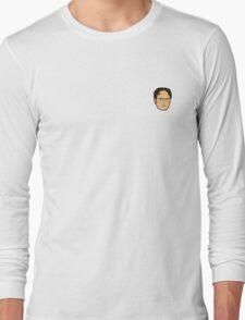 Dwight Schrute Mini Head Long Sleeve T-Shirt