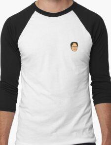 Dwight Schrute Mini Head Men's Baseball ¾ T-Shirt
