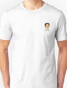 Dwight Schrute Mini Head - 'Question' Unisex T-Shirt