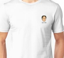 Dwight Schrute Mini Head - Question Unisex T-Shirt