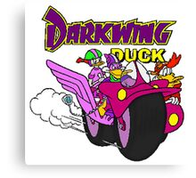 Darkwing Duck Motorcycle Canvas Print