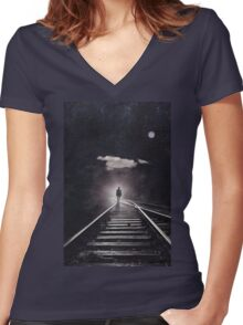 Tales of a Somnambulist Women's Fitted V-Neck T-Shirt