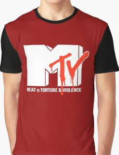 Meat is Torture and Violence Graphic T-Shirt