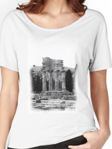 Temple of the Dioscuri - Pencil Drawing Women's Relaxed Fit T-Shirt