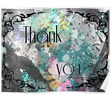 "Spectral glass - ""Thank you"" Poster"