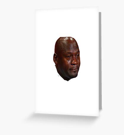 Jordan Crying Greeting Card