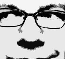 Penn Jillette floating head (white) Sticker