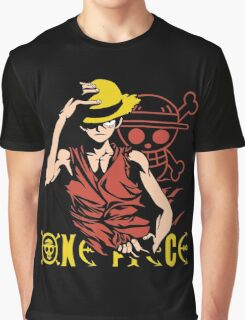 One Piece Monkey D. Luffy, Vector Anime Graphic T-Shirt
