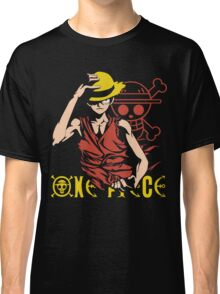 One Piece Monkey D. Luffy, Vector Anime Classic T-Shirt