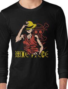 One Piece Monkey D. Luffy, Vector Anime Long Sleeve T-Shirt