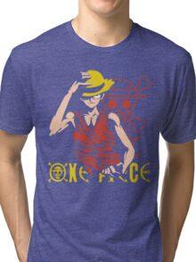 One Piece Monkey D. Luffy, Vector Anime Tri-blend T-Shirt