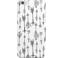 Black tribal arrows on white background iPhone Case/Skin