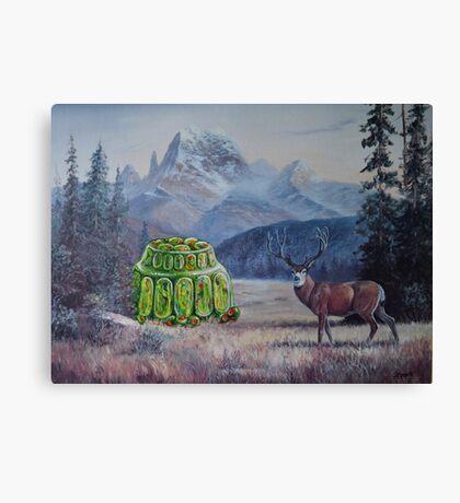 Boreal Jello Mold with Buck Canvas Print