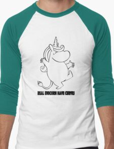 Real Unicorns Have Curves funny nerd geek geeky T-Shirt