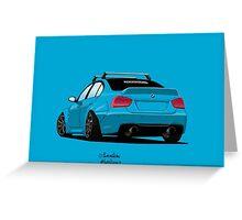 BMW 3er e90 Greeting Card