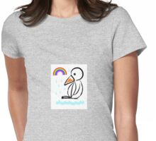 Penguin rainbow Womens Fitted T-Shirt