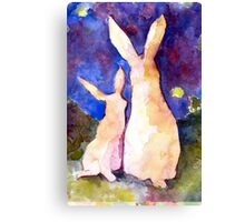 Easter Rabbits Canvas Print