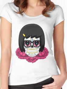 Sugar Skull Tina Women's Fitted Scoop T-Shirt