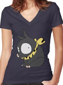 P-chan Women's Fitted V-Neck T-Shirt