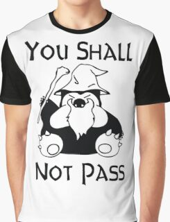 Pokemon Snorlax Quote Graphic T-Shirt