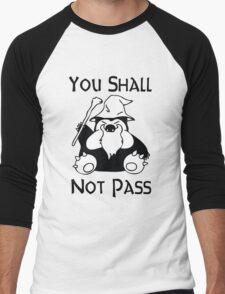 Pokemon Snorlax Quote Men's Baseball ¾ T-Shirt
